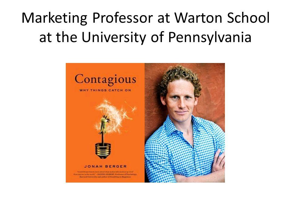 Marketing Professor at Warton School at the University of Pennsylvania