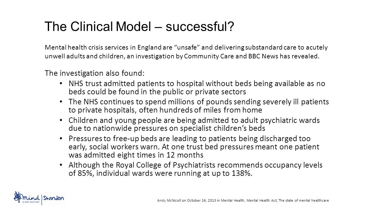 The Clinical Model – successful.