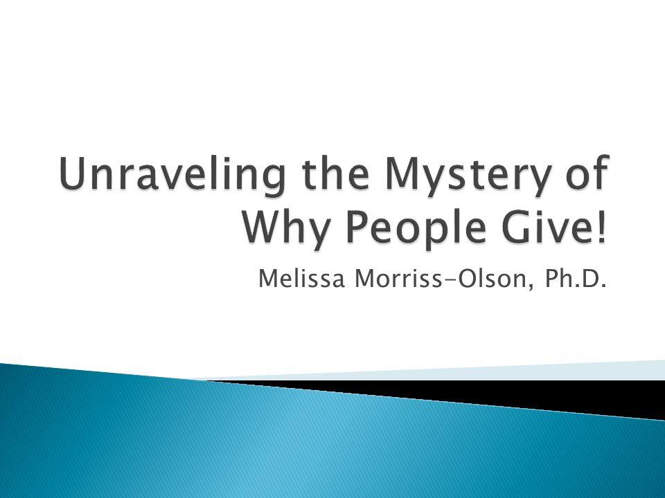 Melissa Morriss-Olson, Ph.D.