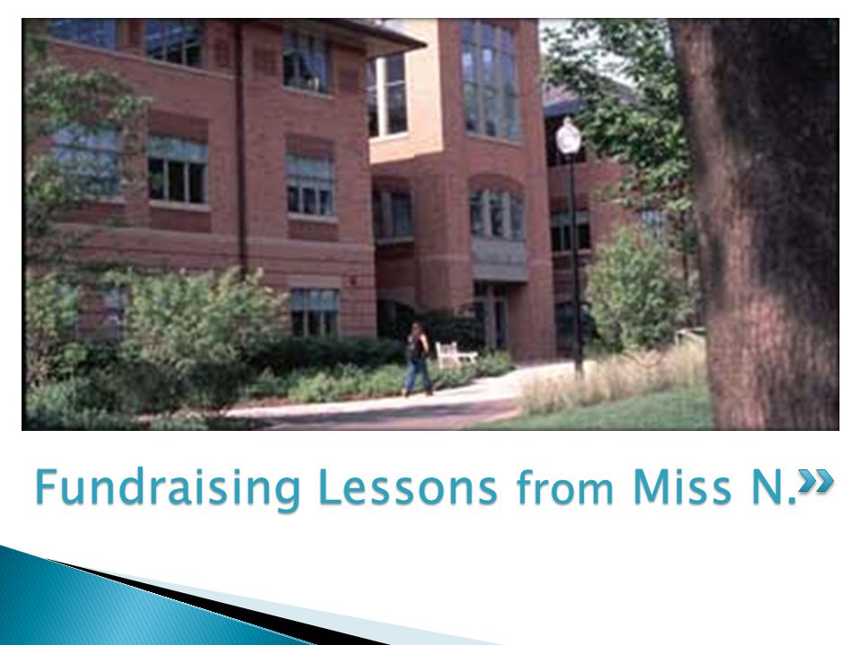 Fundraising Lessons from Miss N.