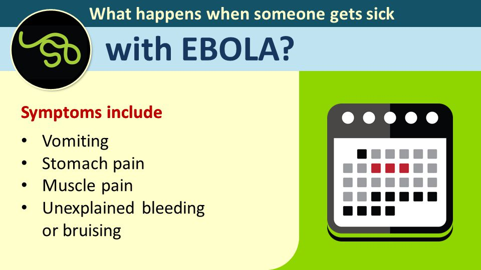 What happens when someone gets sick with EBOLA.