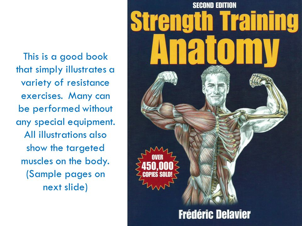 This is a good book that simply illustrates a variety of resistance exercises.