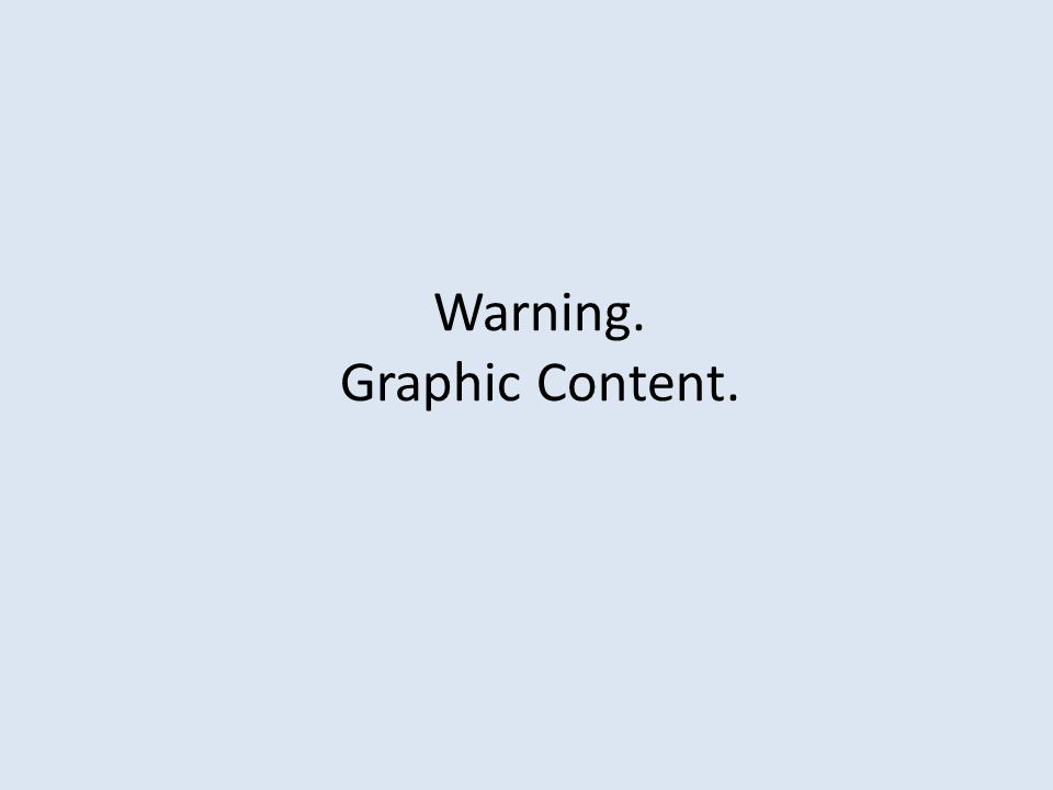 Warning. Graphic Content.