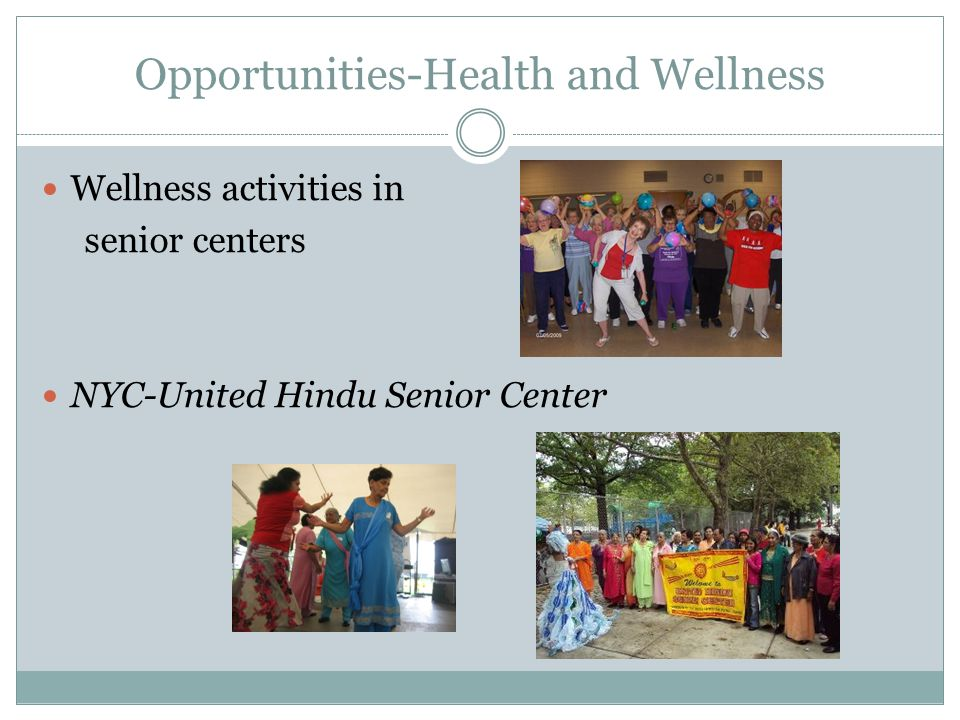 Opportunities-Health and Wellness Wellness activities in senior centers NYC-United Hindu Senior Center