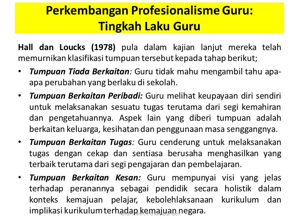 Hall dan Loucks (1978) pula dalam kajian lanjut mereka telah memurnikan klasifikasi tumpuan tersebut kepada tahap berikut; Tumpuan Tiada Berkaitan: Gu