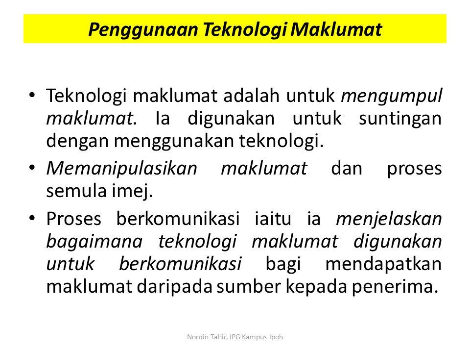 Teknologi maklumat adalah untuk mengumpul maklumat. Ia digunakan untuk suntingan dengan menggunakan teknologi. Memanipulasikan maklumat dan proses sem