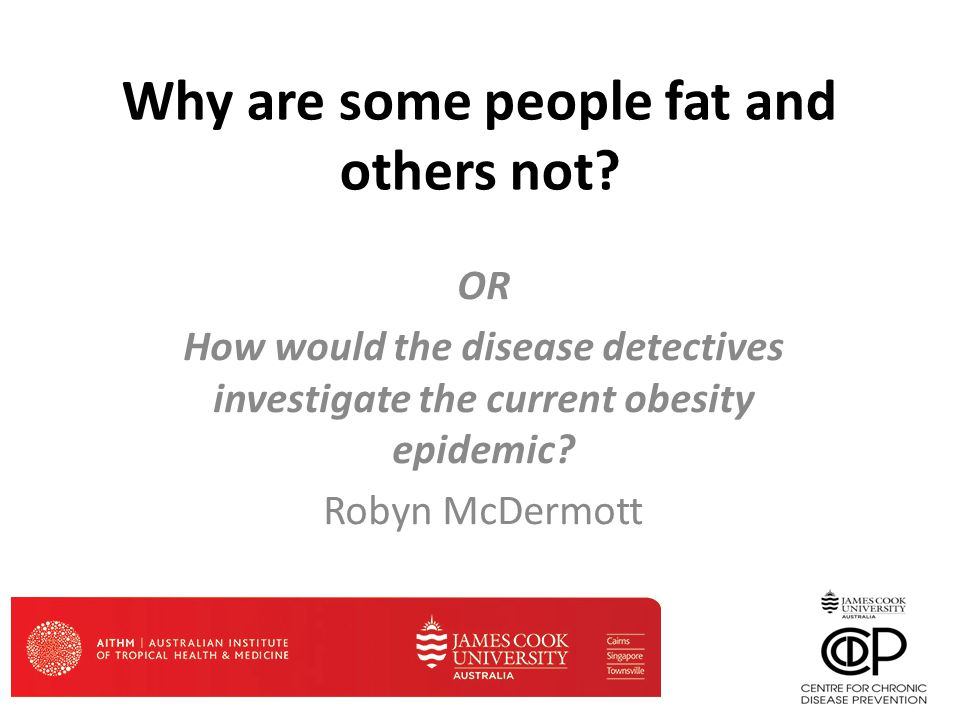 Investigation of an epidemic Who's got it and who hasn't How are they different.