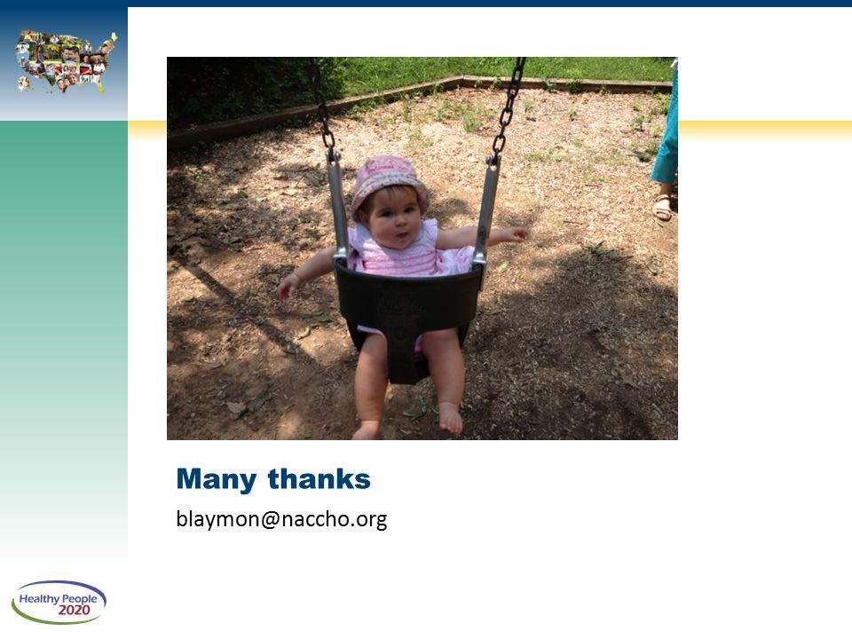 Many thanks blaymon@naccho.org