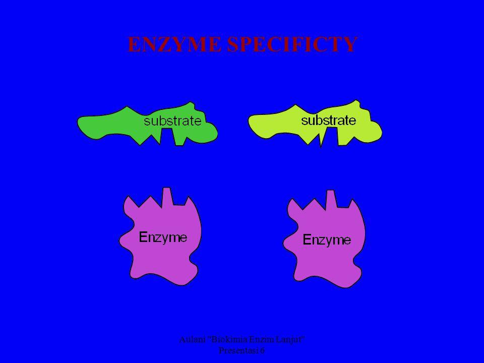 Aulani Biokimia Enzim Lanjut Presentasi 6 ENZYME SPECIFICTY