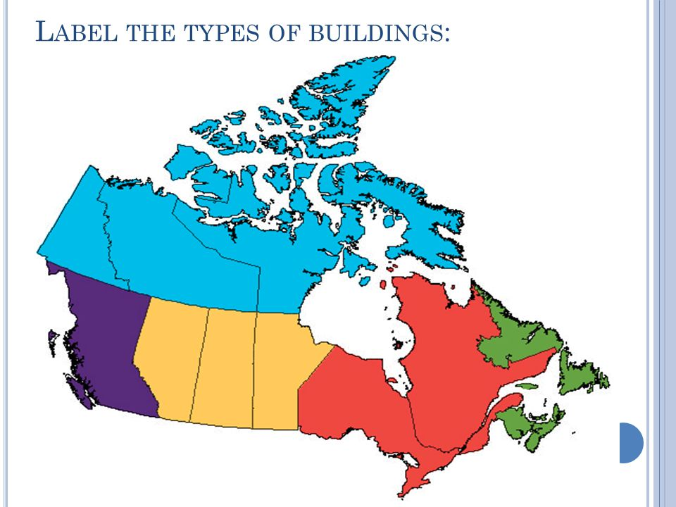 L ABEL THE TYPES OF BUILDINGS :