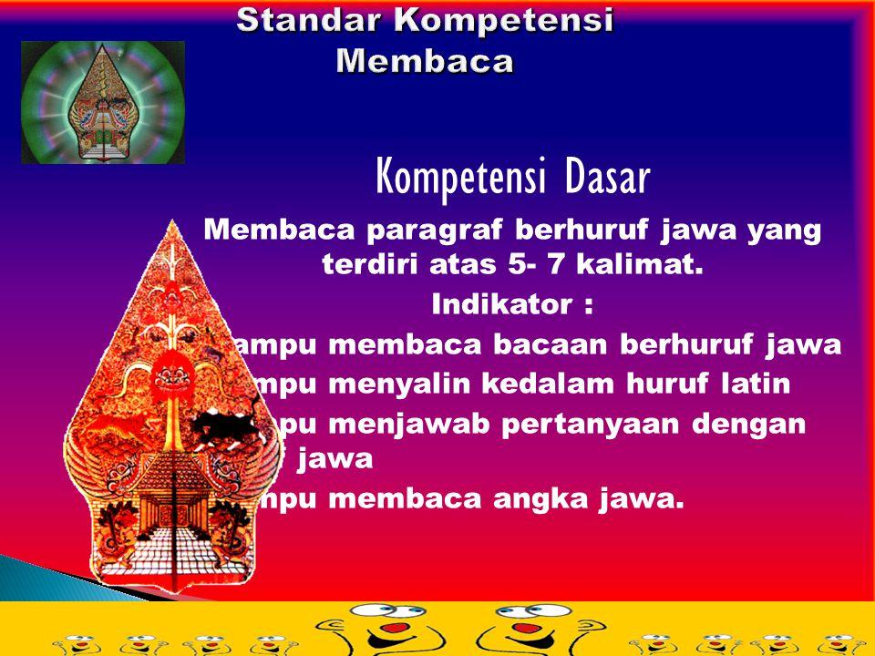 Aksara Jawa Dentawyanjana = 20 Aksara a n c r k f t s w l p d j y v m g b q z