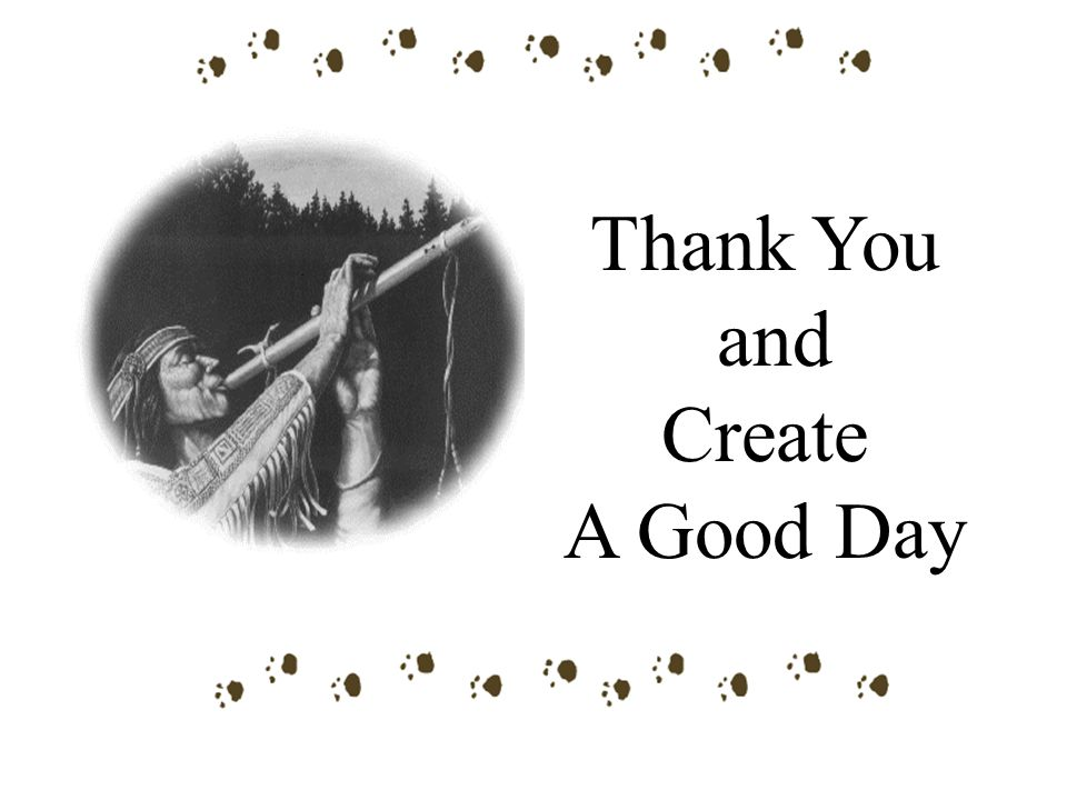 Thank You and Create A Good Day