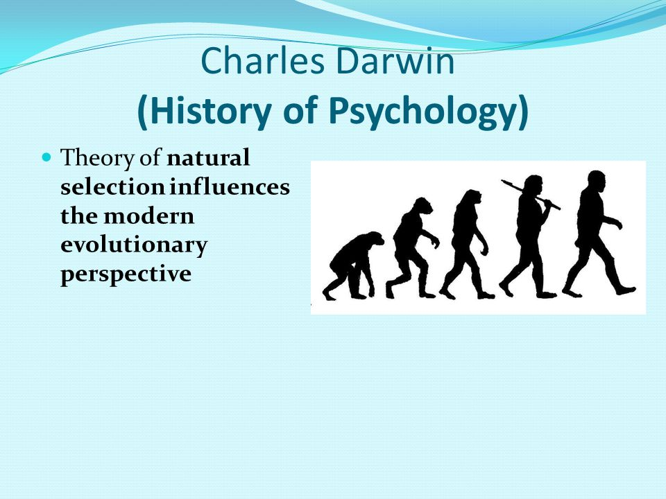 Charles Darwin (History of Psychology) Theory of natural selection influences the modern evolutionary perspective