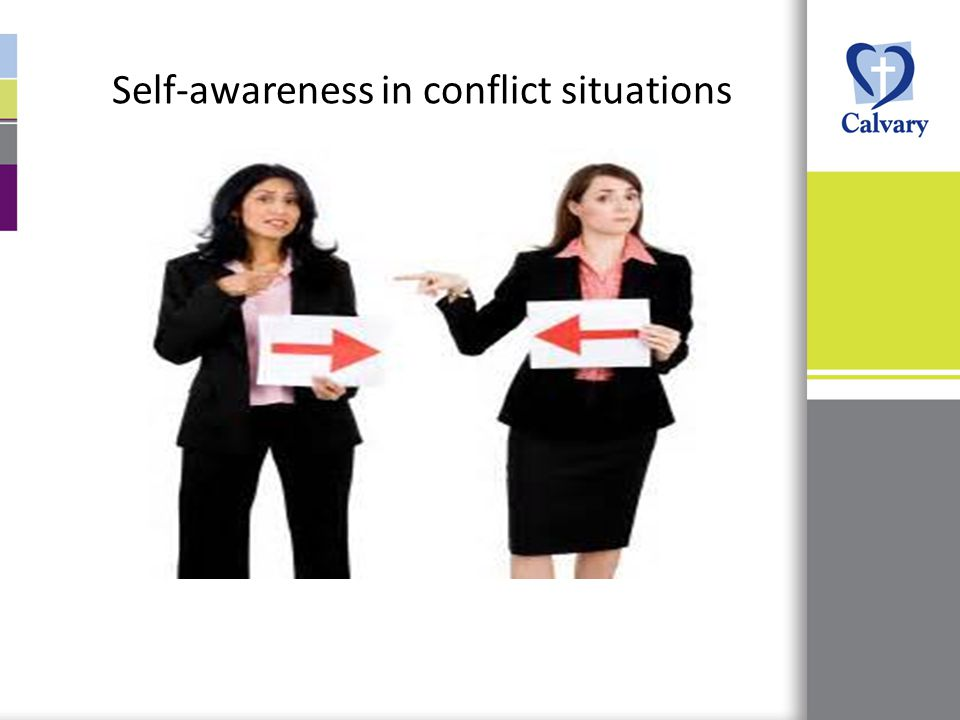 Self-awareness in conflict situations