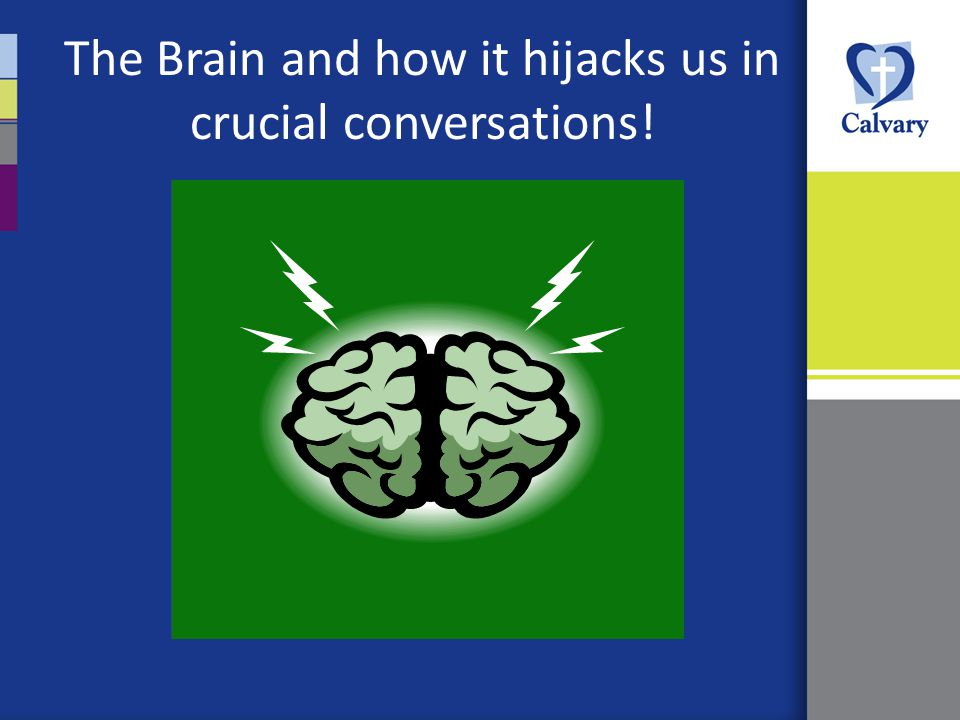 The Brain and how it hijacks us in crucial conversations!