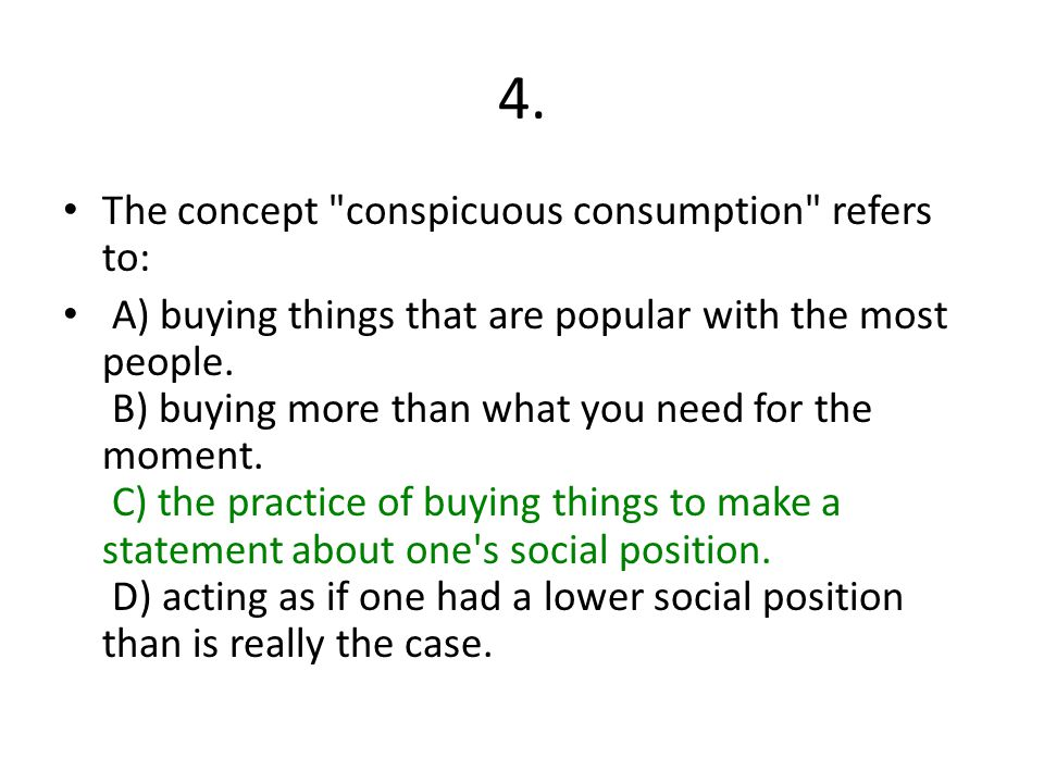 4. The concept