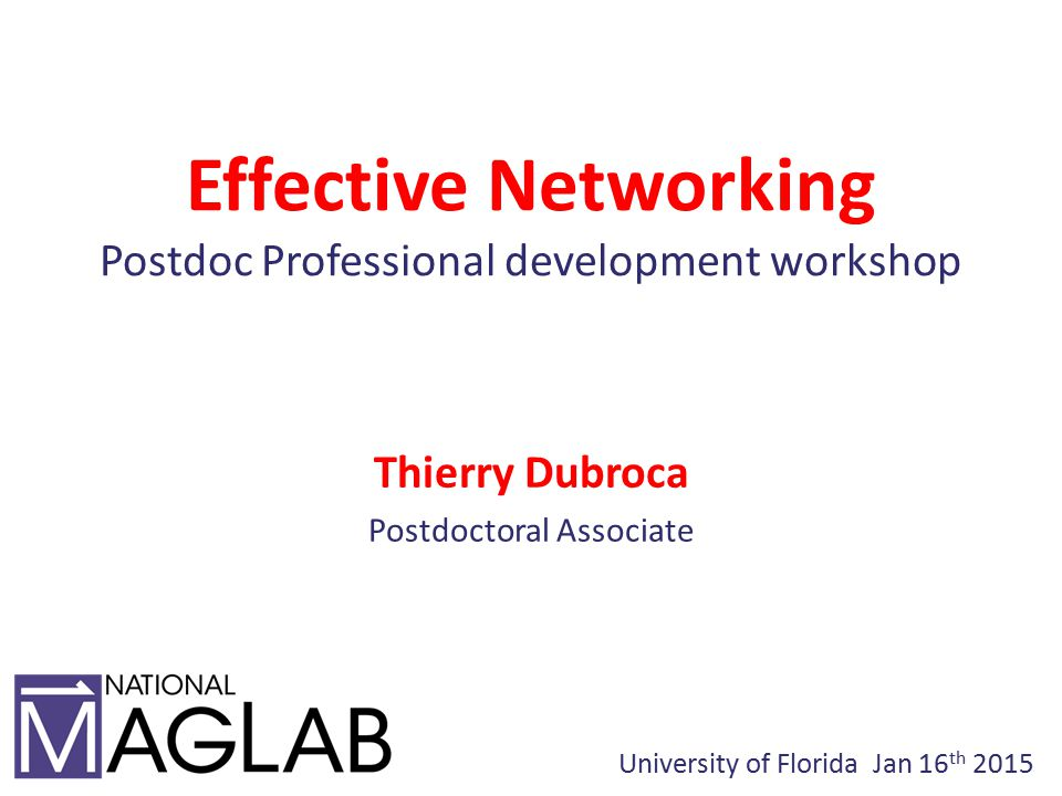 What do YOU think Networking is?