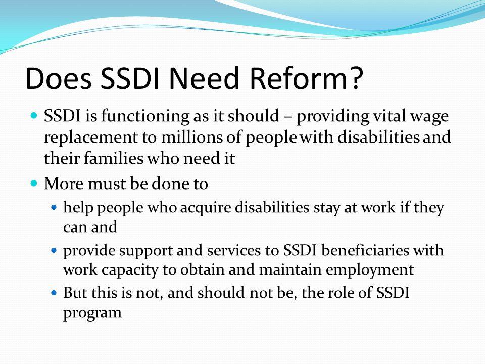Does SSDI Need Reform.