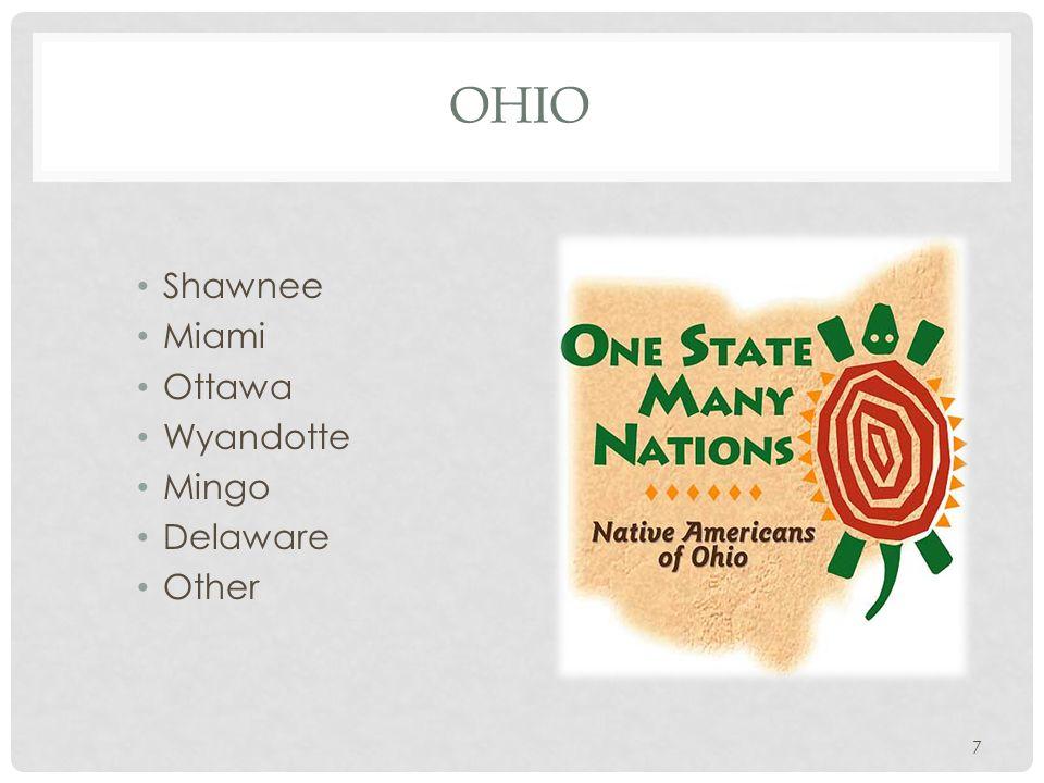 OHIO Shawnee Miami Ottawa Wyandotte Mingo Delaware Other 7