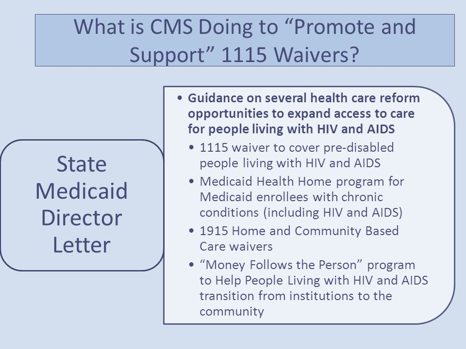 What is CMS Doing to Promote and Support 1115 Waivers.