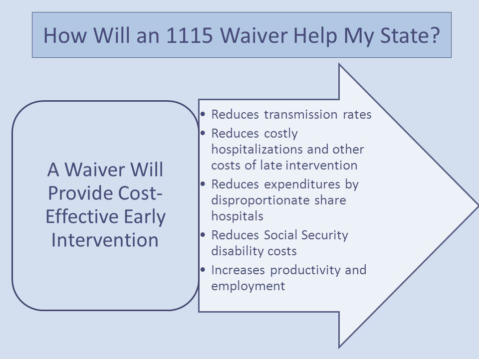 How Will an 1115 Waiver Help My State.