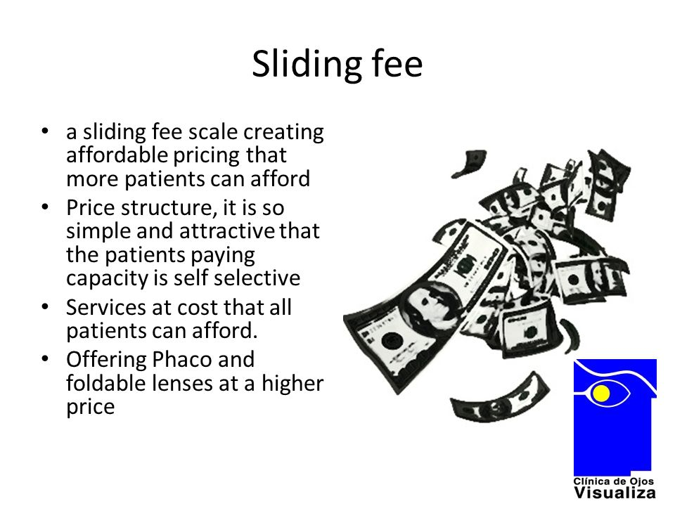 Sliding fee a sliding fee scale creating affordable pricing that more patients can afford Price structure, it is so simple and attractive that the pat