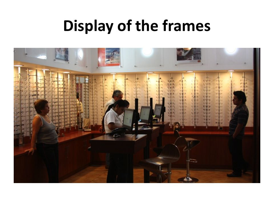 Display of the frames