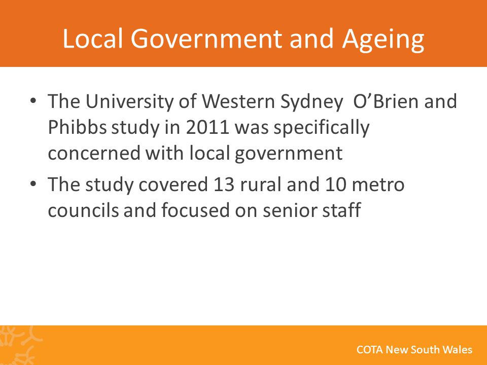 COTA New South Wales What can Council do.