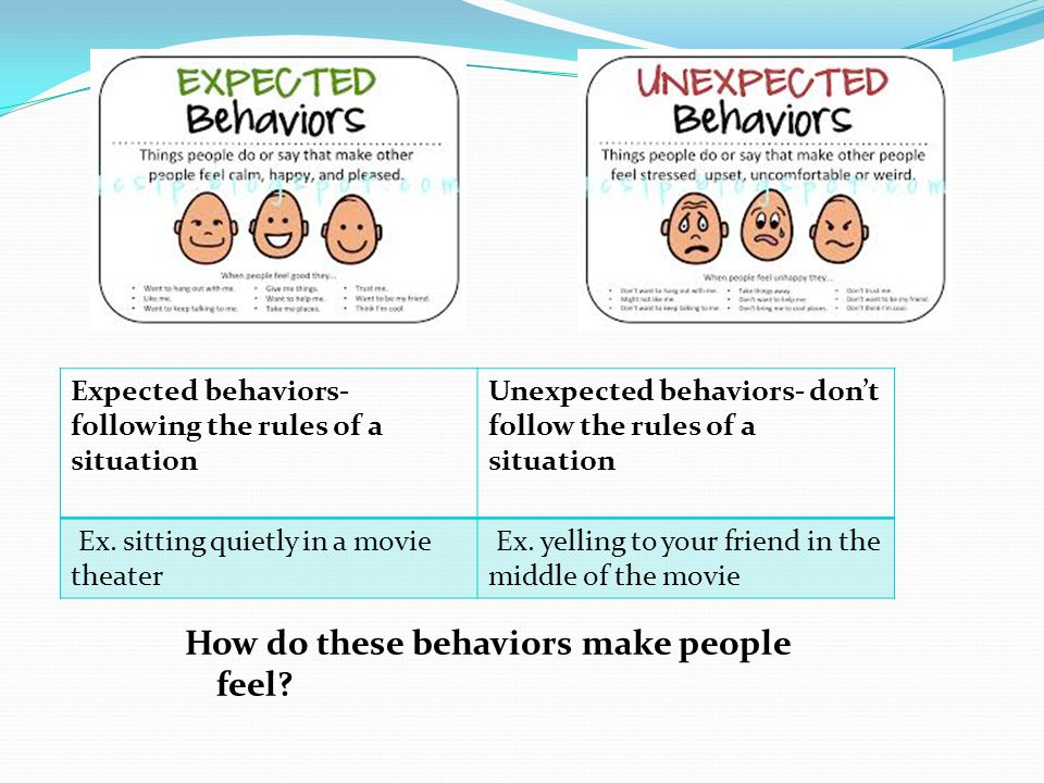 How do these behaviors make people feel.