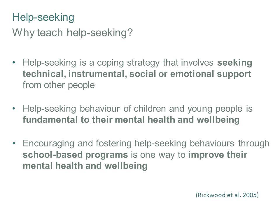 Help-seeking Example Learning Activities 1.