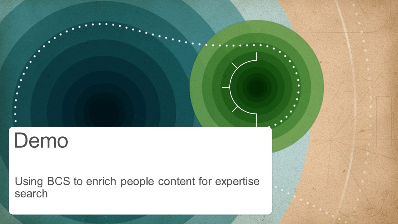 Using BCS to enrich people content for expertise search