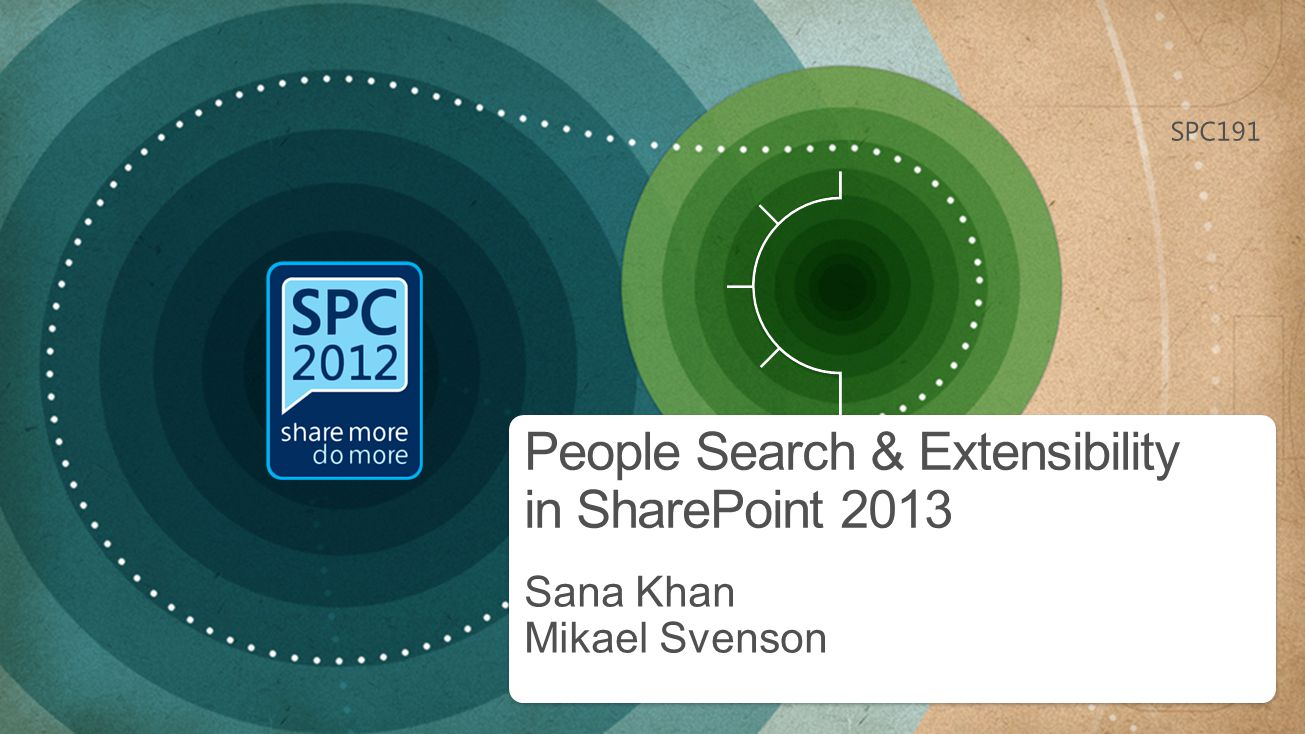 People Search - Out-of-box feature set 2013