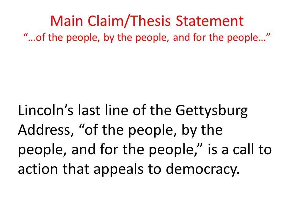 The gettysburg address essay