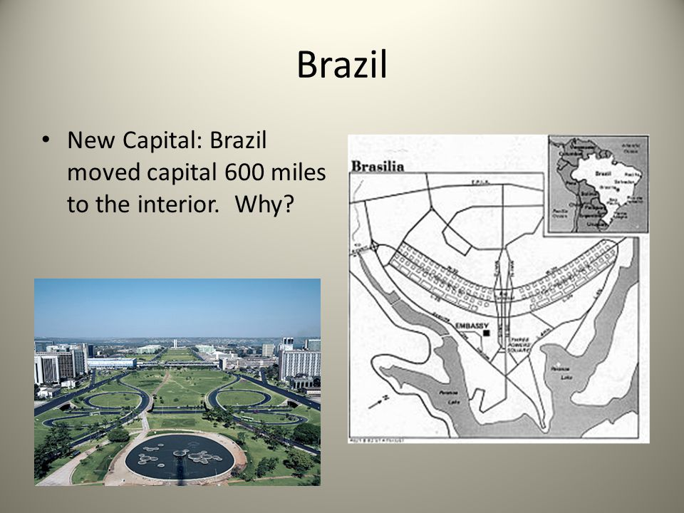 Brazil New Capital: Brazil moved capital 600 miles to the interior. Why