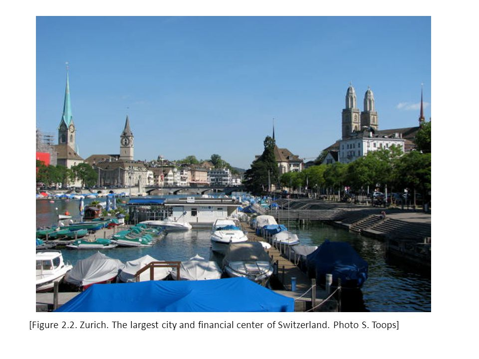 [Figure 2.2. Zurich. The largest city and financial center of Switzerland. Photo S. Toops]