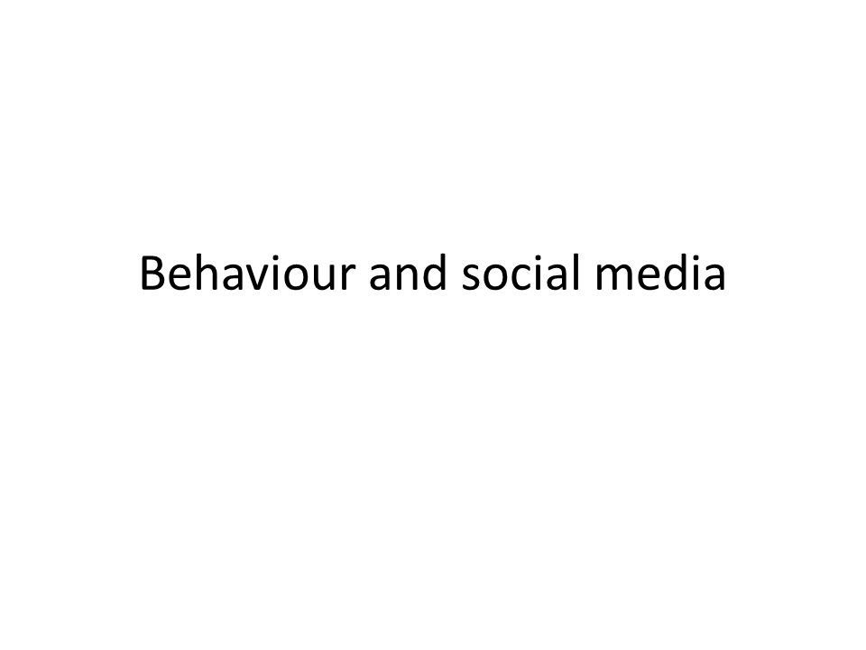 Social media: an overview 1.People choose to use social media 2.They form networks 3.They share messages