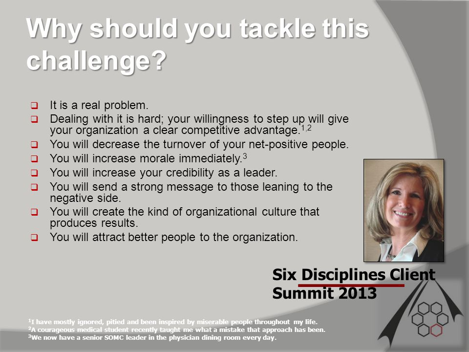 Why should you tackle this challenge.