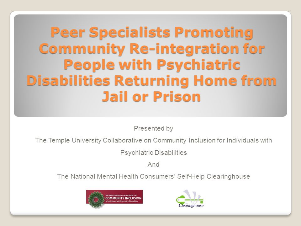 The Webinar Series November 2012 / Community Inclusion Programs in Peer- Run Mental Health Services January 2013 / The Roles of Peer Specialists in Rural Communities: Challenges and Models March 2013 / The Roles of Peer Specialists in Promoting Competitive Employment May 2013 / How Can Peer Specialists Promote Engagement in Religious Congregations.