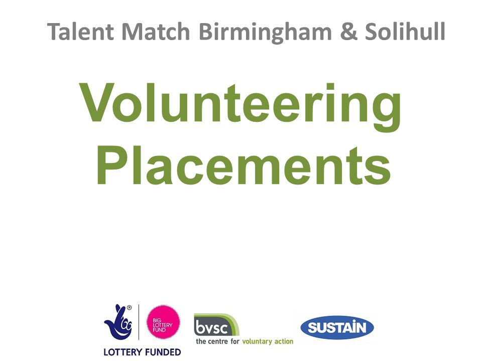 Talent Match Birmingham & Solihull Volunteering Placements