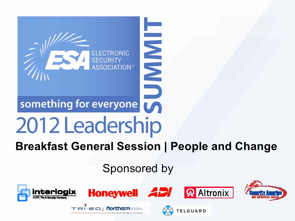 Breakfast General Session | People and Change Sponsored by