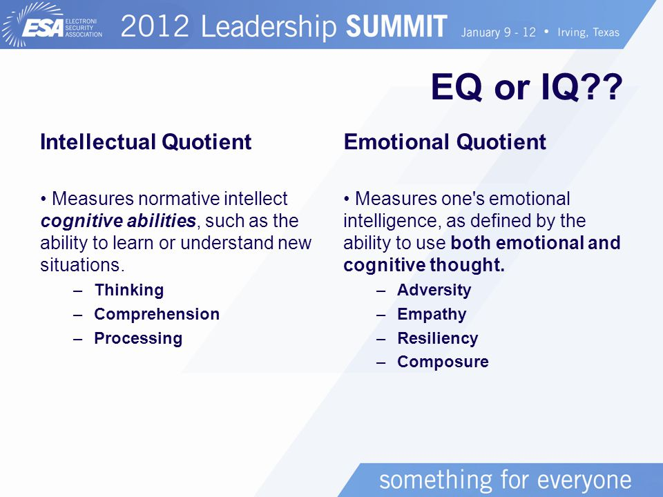 EQ or IQ .