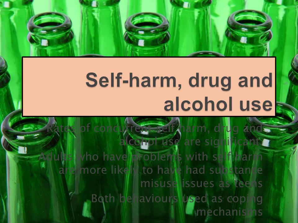 Rates of concurrent self harm, drug and alcohol use are significant.