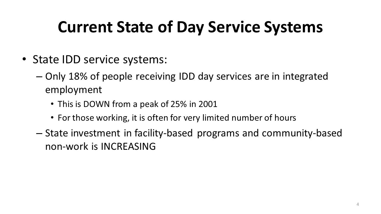 CMS Guidance Regarding Non-Residential Settings (cont'd) Day services offered in any institutional setting (ICF, hospital, or nursing home) or on the grounds or adjacent to a public institution are presumed unallowable Day services on the grounds of or adjacent to private institutions are not automatically presumed to be non-HCBS but must be closely examined and may be unallowable settings that isolate – States have flexibility to limit or even completely prohibit all day settings in or on the grounds of all institutions 15