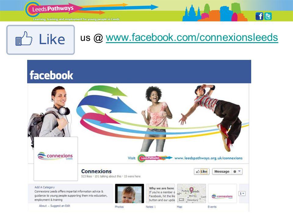 us @ www.facebook.com/connexionsleeds www.facebook.com/connexionsleeds
