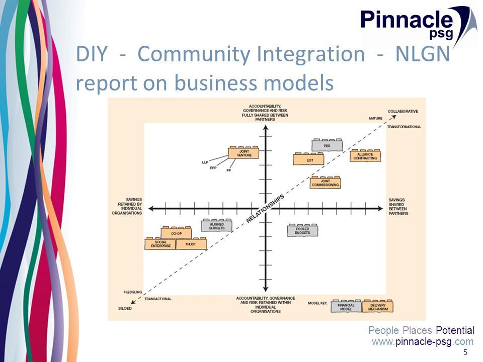 www.pinnacle-psg.com People Places Potential 5 DIY - Community Integration - NLGN report on business models www.pinnacle-psg.com People Places Potenti