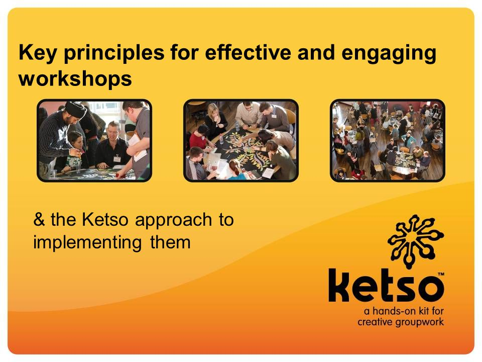 Use a Creativity Sandwich Think Together Effectively: the Ketso approach Start with a focus on the positive (e.g.