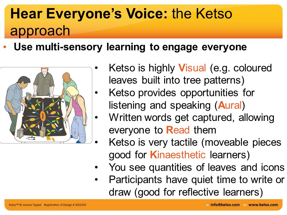Ketso is highly Visual (e.g.