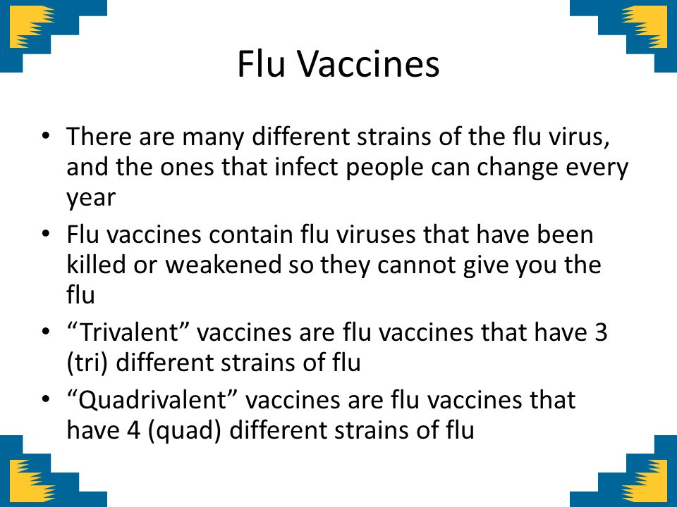 Pregnant women and flu vaccines Pregnant women pass on protection to their newborn Studies have shown babies born to moms who were vaccinated with flu