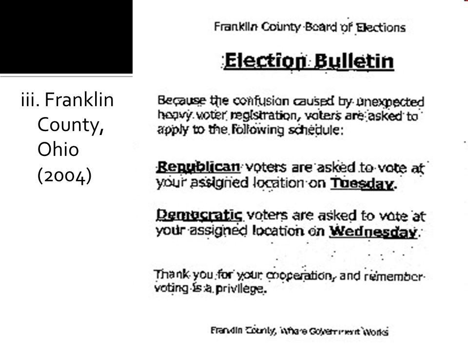 iii. Franklin County, Ohio (2004)