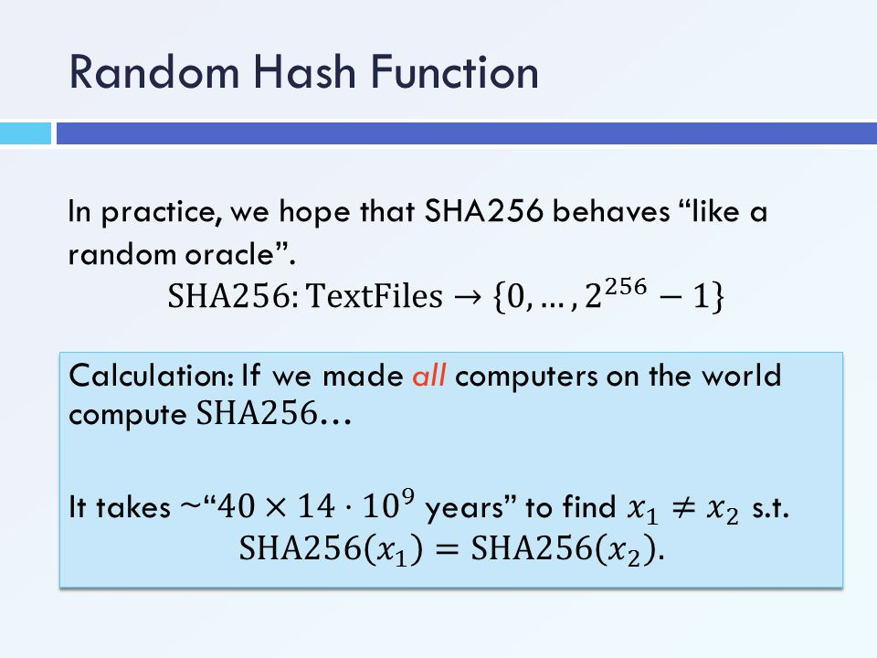 Random Hash Function